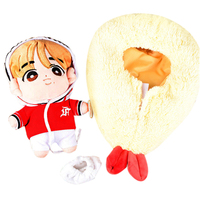 Korea Hip Hop EXO Luhan 20cm/8 Handmade Plush Toy Stuffed Doll with Clothes Suit Gift Collection