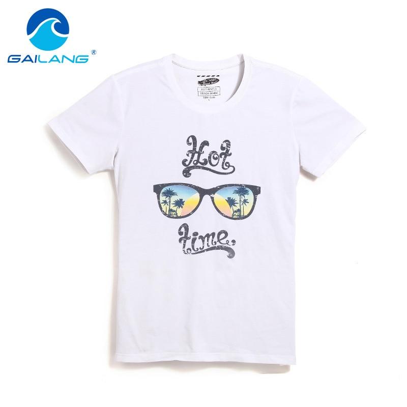 d9d258ad2928 Gailang marca diseño impreso T camisa de los hombres de verano Camiseta de manga  corta Tops Plus tamaño XXXL camisetas de algodón de cuello camiseta Casual