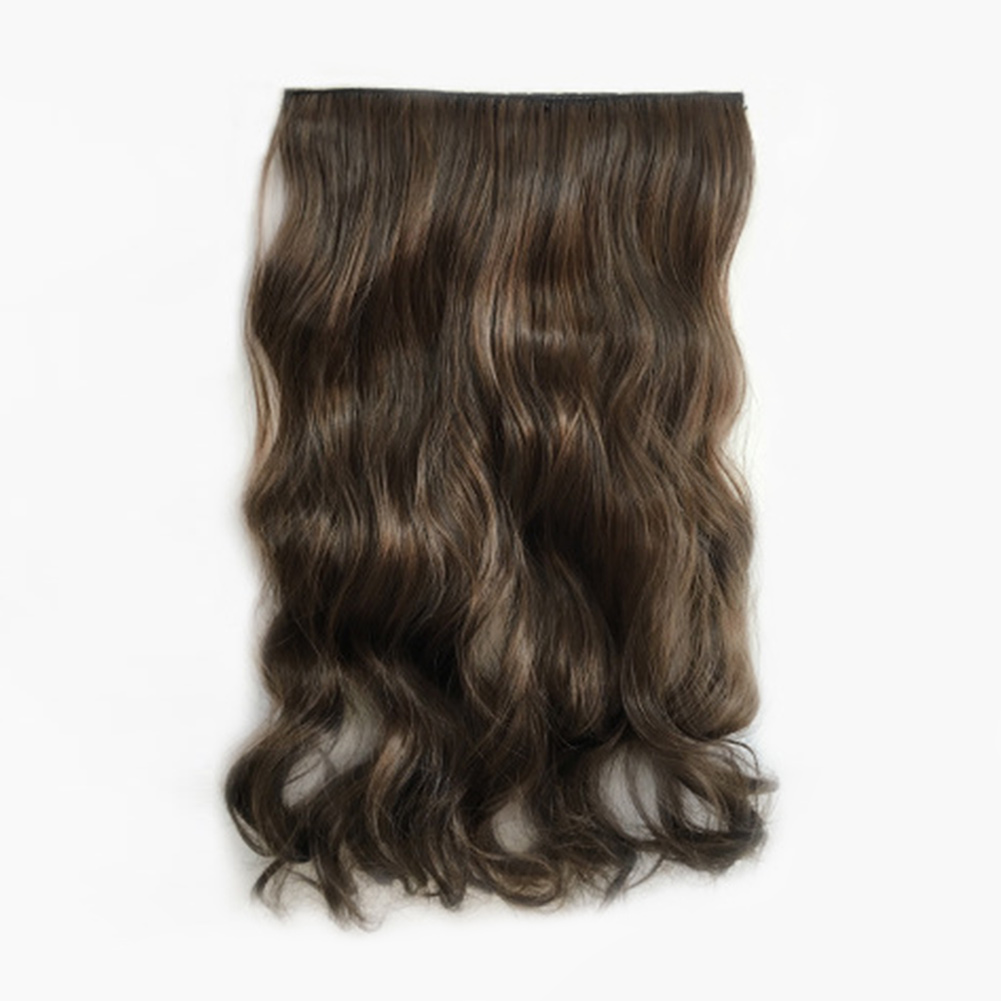 Fashions Women Long Curly Clip in Hair Extensions One Piece Synthetic Hair Piece