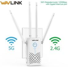 Wavlink 1200Mbps wifi repeater Extender/Amplifier/Router/Access Point Gigabit Wireless Dual Band 2.4G/5G External 5dBi Antennas tenda ac11 1200mbps wireless wifi router 1wan 3lan gigabit ports 5 6dbi high gain antennas 1ghz cpu 128m ddr3 smart app manage