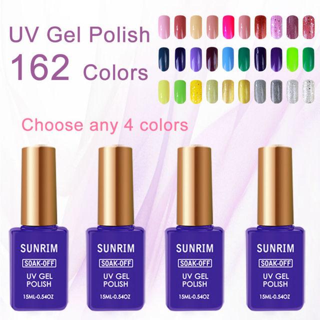 4pcs/lot Manicure Sets Kit for Gel Nail Polish 4 Colors Optional the Set Gel Varnish Manicura 15ml UV Lamp Sets of Gel Varnish