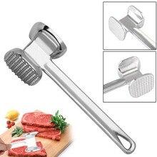 1Pc Keuken Aluminium Losse Vleesvermalsers Vlees Hamer Twee Kanten Ponders Klop Zijdig Voor Steak Varkensvlees Keuken Gereedschap accessoires