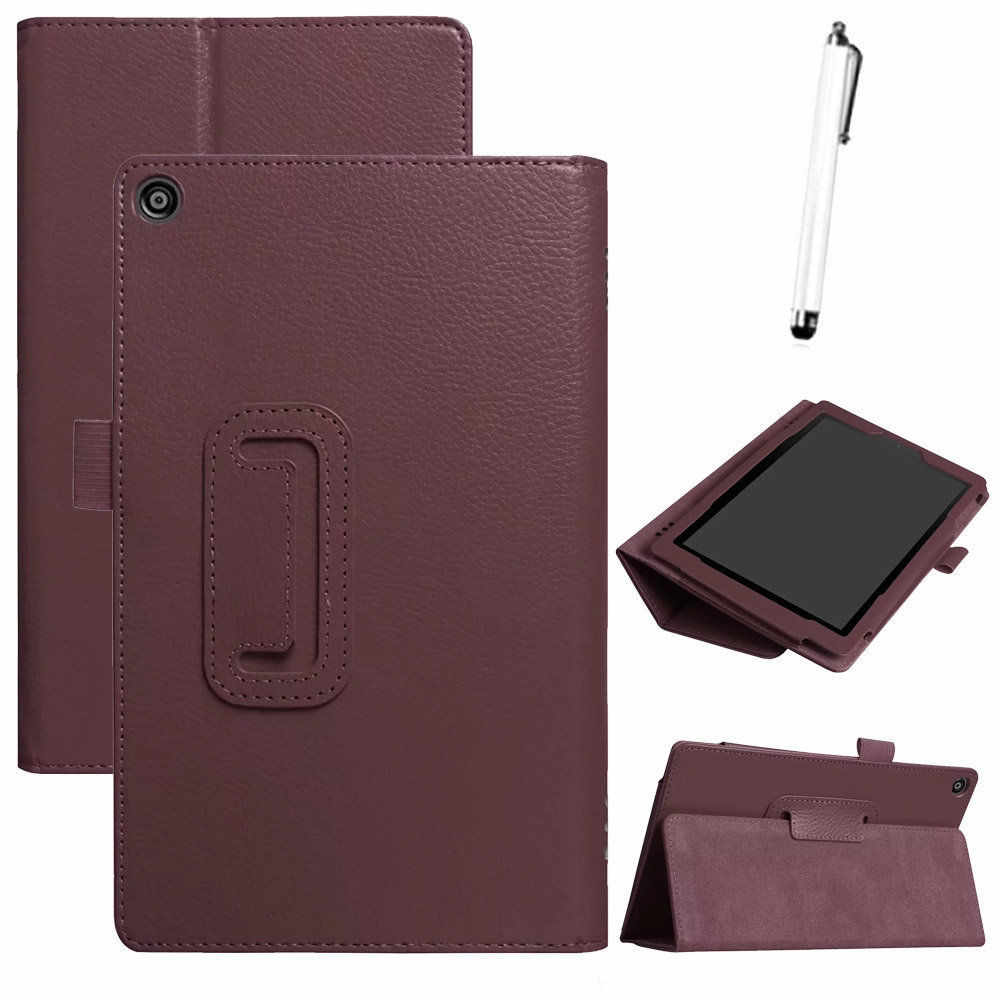 Leather case For Amazon Kindle Fire HD 8 2018 8th Gen Ultra Slim PU+Leather Case Cover Stand tablet case For Amazon Kindle#y4