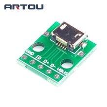 5 шт. Micro USB к DIP адаптер разъем модуль панель Женский 5-контактный Pinboard 2,54 мм Micro USB PCB