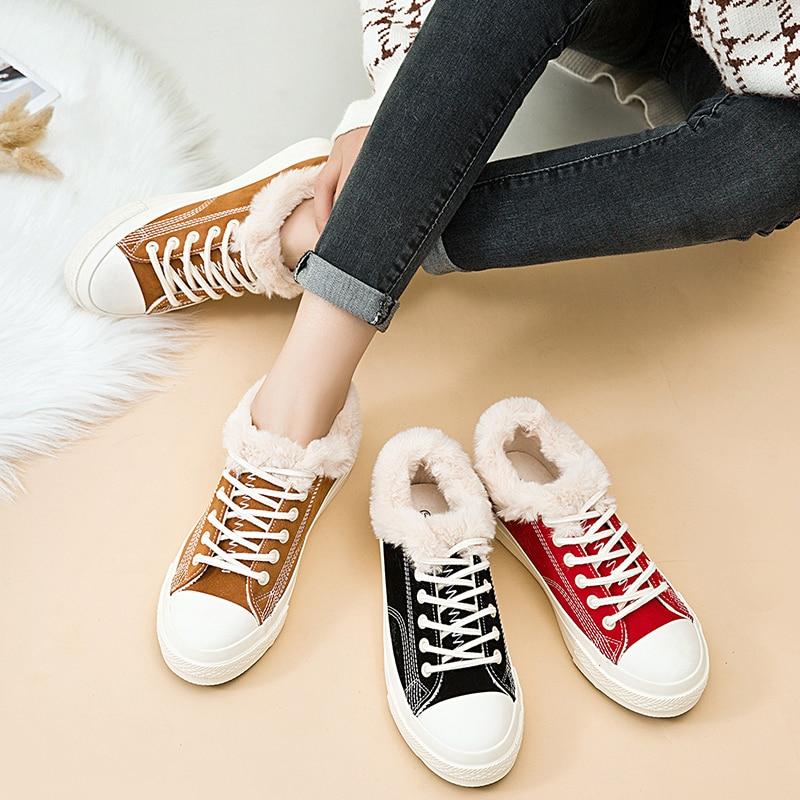 Version D'hiver 3 Feu Velours Coton Chaussures Sauvage Harajuku Ulzzang Toile Chaud De 2 Coréenne Super Plus Ins 2018 Nouvelle 1 wRxBXqtg