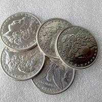 Nuevo Estilo de Plata 90% Ninguna Fecha 5 unids Moneda de La Copia Morgan Dólar PROFUNDA MIRROR PRUEBA COMO ACABADO