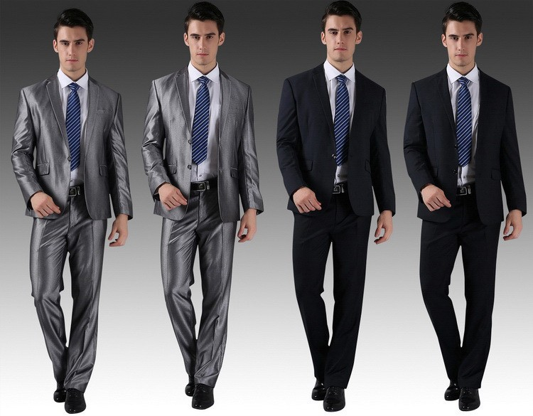 Jackets Pants) New Men Suits Slim Custom Fit Tuxedo Brand Fashion ...