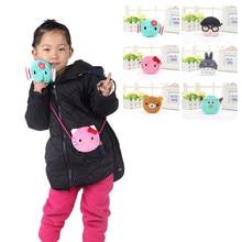Baby Girls Mini Messenger Bag Cute Plush Cartoon Boys Small Coin Purses Children Handbags Kids Shoulder Bags