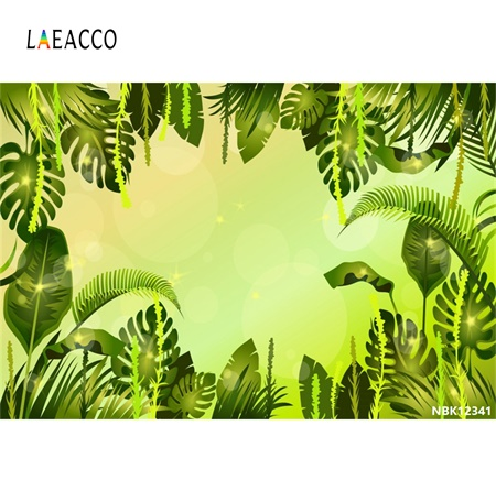 Laeacco Vintage Tropical Jungle Green Banana leaf Wall Baby Natural Scene Photography Background Photo Backdrop For Studio
