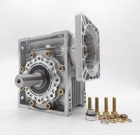 Worm Gearbox Reducer 50:1 NMRV063 22mm Single Input Shaft Worm Gear Speed Reducer for NEMA52 Servo Motor Stepper Motor