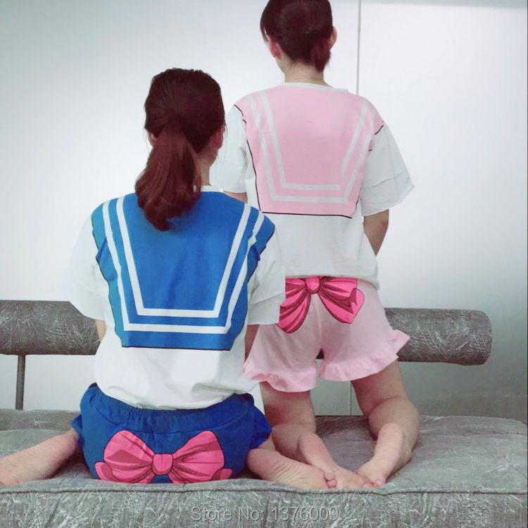 Sailor Moon Cosplay T-shirt T-shirt Անիմե Chibimoon - Կարնավալային հագուստները - Լուսանկար 5