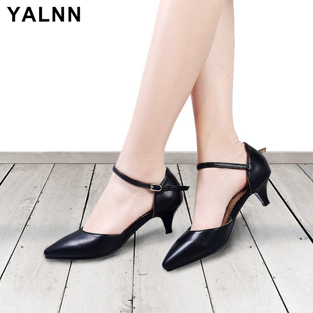 YALNN Módní dámské spodky Sandály z hedvábí Heelové podpatky - Dámské boty