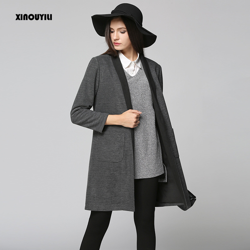 long sleeve plus size winter coat women 2018 autumn and winter womens new long cardigan casaco feminino