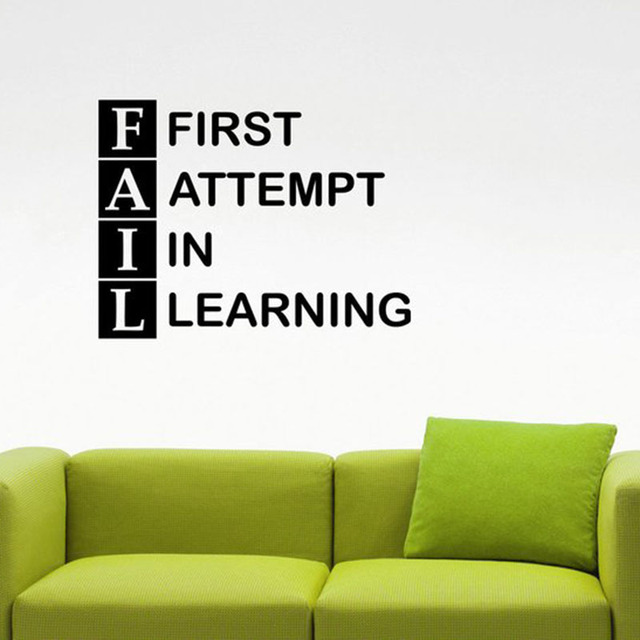 fail quote wall decal work success education inspirational vinylfail quote wall decal work success education inspirational vinyl sticker home interior decorations study learning art classroom