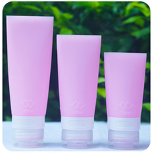 38/60/80ml Portable Silicone Mini Travel Bottles Colorful Empty Clear Tube Cosmetic Cream Lotion Containers Refillable