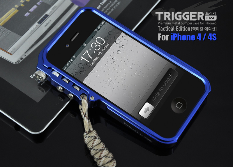 buy online 0be87 b2725 US $8.64 28% OFF|4THDESIGN Brand Trigger metal bumper for iphone 4 4S M2  4th design premium aluminum bumper cases tactical edition ,Free shipping-in  ...