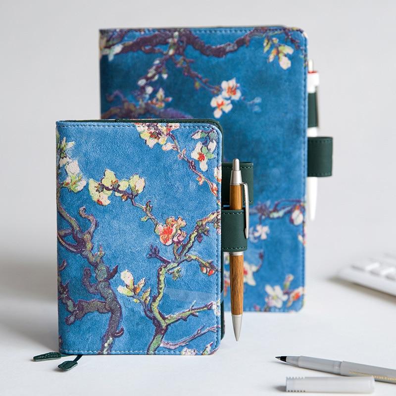 Notebooks Notebooks & Schreibblöcke Vintage Stoff Mandel Baum Blossom Notebook Journal Tagebuch Abdeckung A5 A6 Planer Notebook Fall Van Gogh
