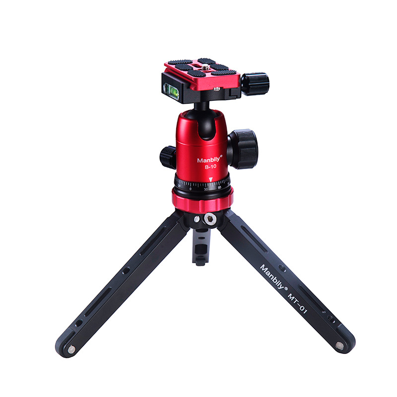 Manbily Mini Table Aluminum Tripod Perfectly for Mirroless Cellphone Gorpo Compact Camera shooting Tripod/w Head/ w phoneSupport