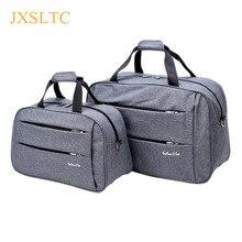 Bolso de viaje para hombre y mujer, bolsa grande de lona impermeable con ruedas, para equipaje de cabina, color negro, gris y azul