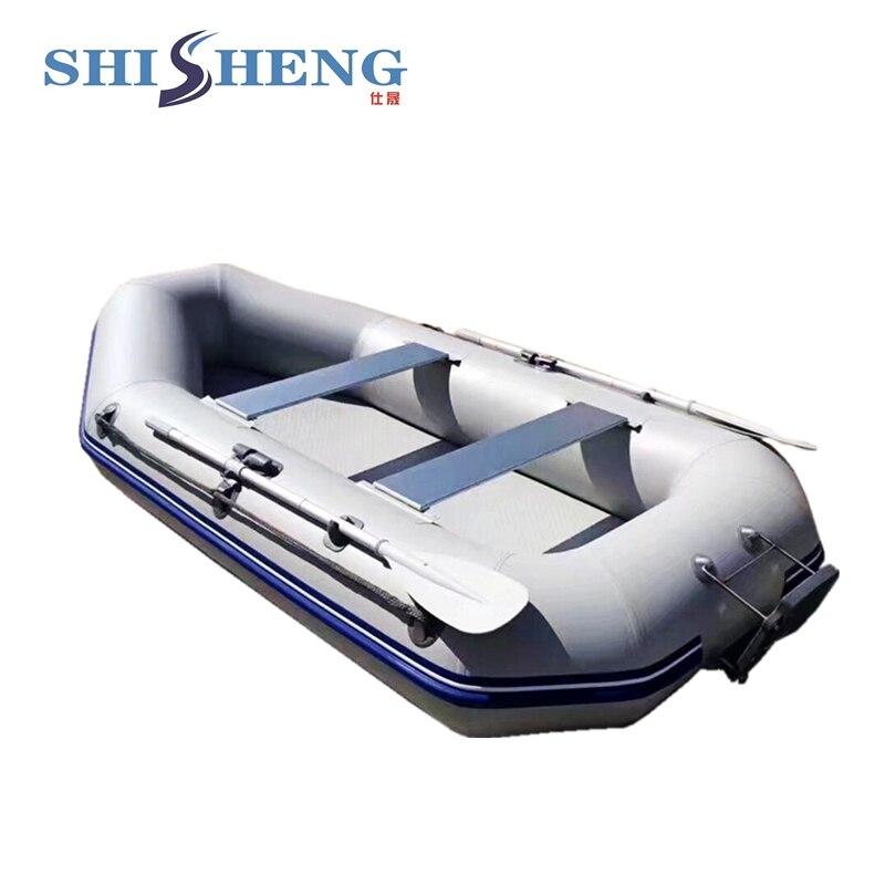Petit bateau de pêche populaire gris/vert canot de pêche de bonne qualité bateau à voile en pvc avec des sièges pour une ou deux personnes - 3