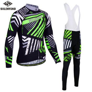 Siilenyond 2019 Winter Thermal Pro Cycling Jersey Sets Keep Warm MTB Bicycle Clothing Racing Bike Cycling Clothes Suit For Men 1