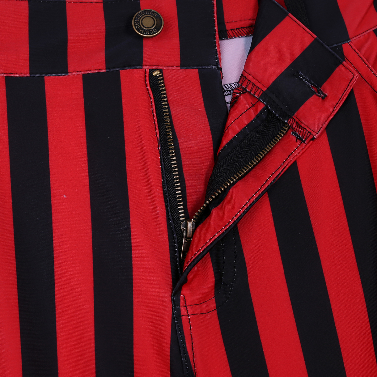 Halloween Party Costume for Men Vintage Stripe Pant Male Long Pant Stretch Bell Bottom Trousers Western Streetwear Clothes Homme 20