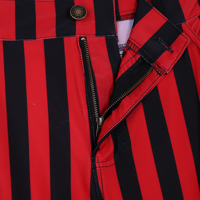 Halloween Party Costume for Men Vintage Stripe Pant Male Long Pant Stretch Bell Bottom Trousers Western Streetwear Clothes Homme 5