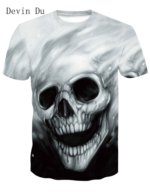 ddd6ffc93f9a Devin Du New design skull poker print Men short sleeve T shirt 3d t-shirt  casual breathable t-shirt plus-size tshirt homme