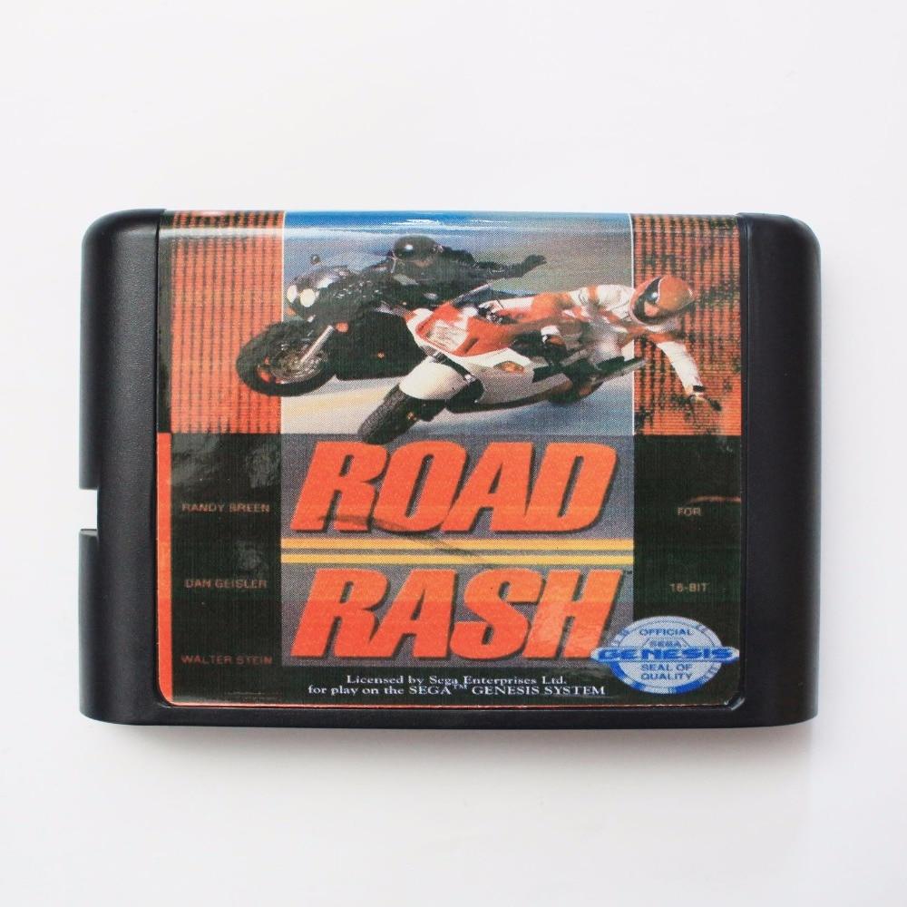 Road Rash 16 bit SEGA MD Game Card For Sega Mega Drive For Genesis