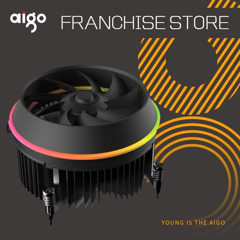 Aigo darkflash schatten TOP-FLUSS CPU Kühler AURA SYNC TDP 280 watt PWM 4pin Doppel Ring LED RGB Fan kühler Kühler für intel LGA 115x