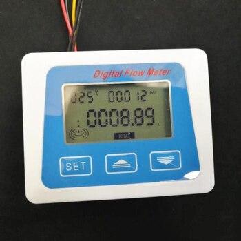 Digitaler Wasserdurchflussmesser   Digital Lcd Display Wasser Flow Sensor Meter Durchflussmesser Rotameter Temperatur Zeit Aufzeichnung Mit G1/2 Flow Sensor