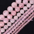 """Quartzo rosa Facetada Redonda Natural Gem Stone Beads Strand 15 """"6,8, 10,12mm Para DIY Colar Bracelat Jóias fazer, Frete Grátis"""