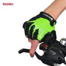 BOODUN letní nárazuvzdorné cyklistické rukavice poloviční prst venkovní MTB silniční kolo cyklistické rukavice sportovní rukavice pro děti muži ženy