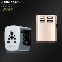 Momax過電流保護automaxユニバーサルトラベルアダプター電気プラグソケットコンバータ米国/au/uk/eu 4 usb充電4.5a