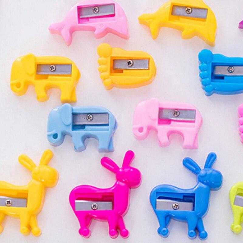 Klug 1 Stück Nette Mini Bleistiftspitzer Tier Auto Elefanten Fisch Dolphin Footprint Esel Kinder Spielzeug Schule Bürobedarf Schreibwaren