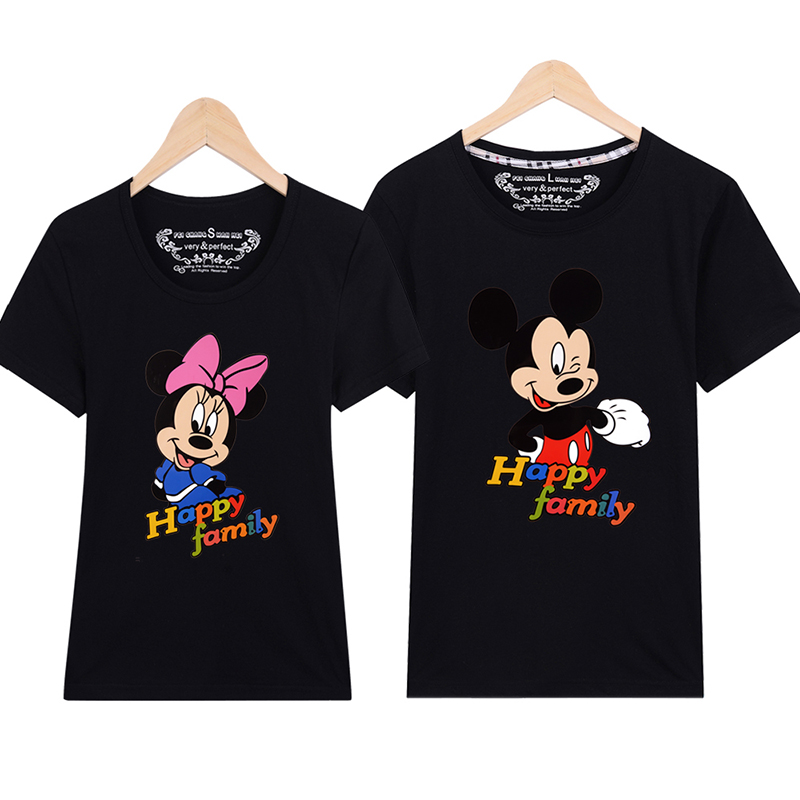 Lover T Shirts Spring Summer Men & Women Couples Cartoon T Shirts Harajuku Style Minnie Mouse T Shirt Girls Boys Casual T Shirts