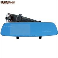 BigBigRoad For fiat 500 500l 500x punto stilo bravo Car DVR Blue Screen Rearview Mirror Video Recorder parking DVR dashcam