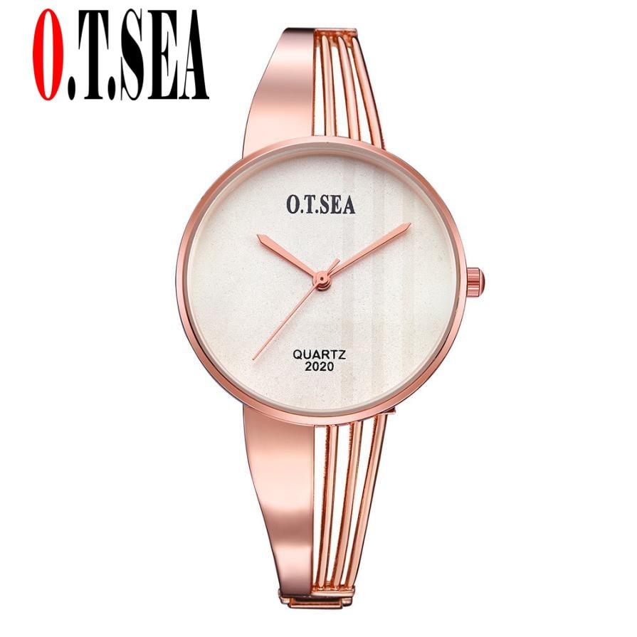 Hot Sales O.T.SEA Brand Rose Gold Bracelet Watches Women Ladies Dress Quartz Wristwatches Relogio Feminino 2020