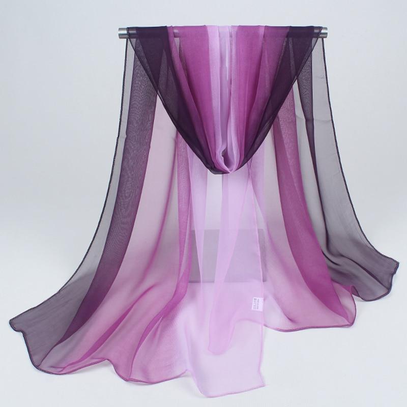 hijab 2019 frauen schals mode und bunte joker reine farbe chiffon neue sonnencreme schal strandtuch gradienten großhandel FZ032