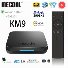 MECOOL KM9 Android 8,1 ТВ коробка 4G DDR4 32G ROM голос Управление Android USB 3,0 ТВ коробке 2. 4G/5 г Wi-Fi 4 К Smart ТВ Box Media Player тв приставка тв бокс телевизор smart tv box смарт тв приставка
