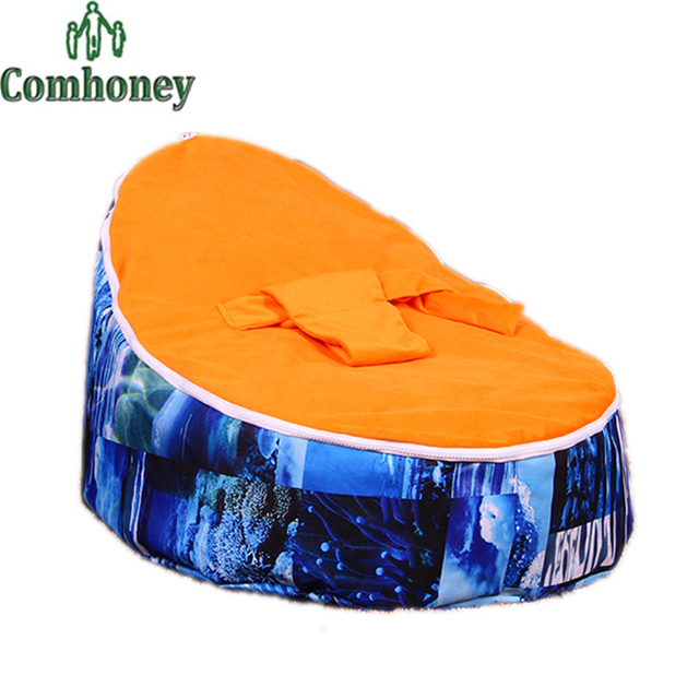 Baby Bean Bag Chair Bed Cover Without Filling Care Infant For Toddler Furniture Kid