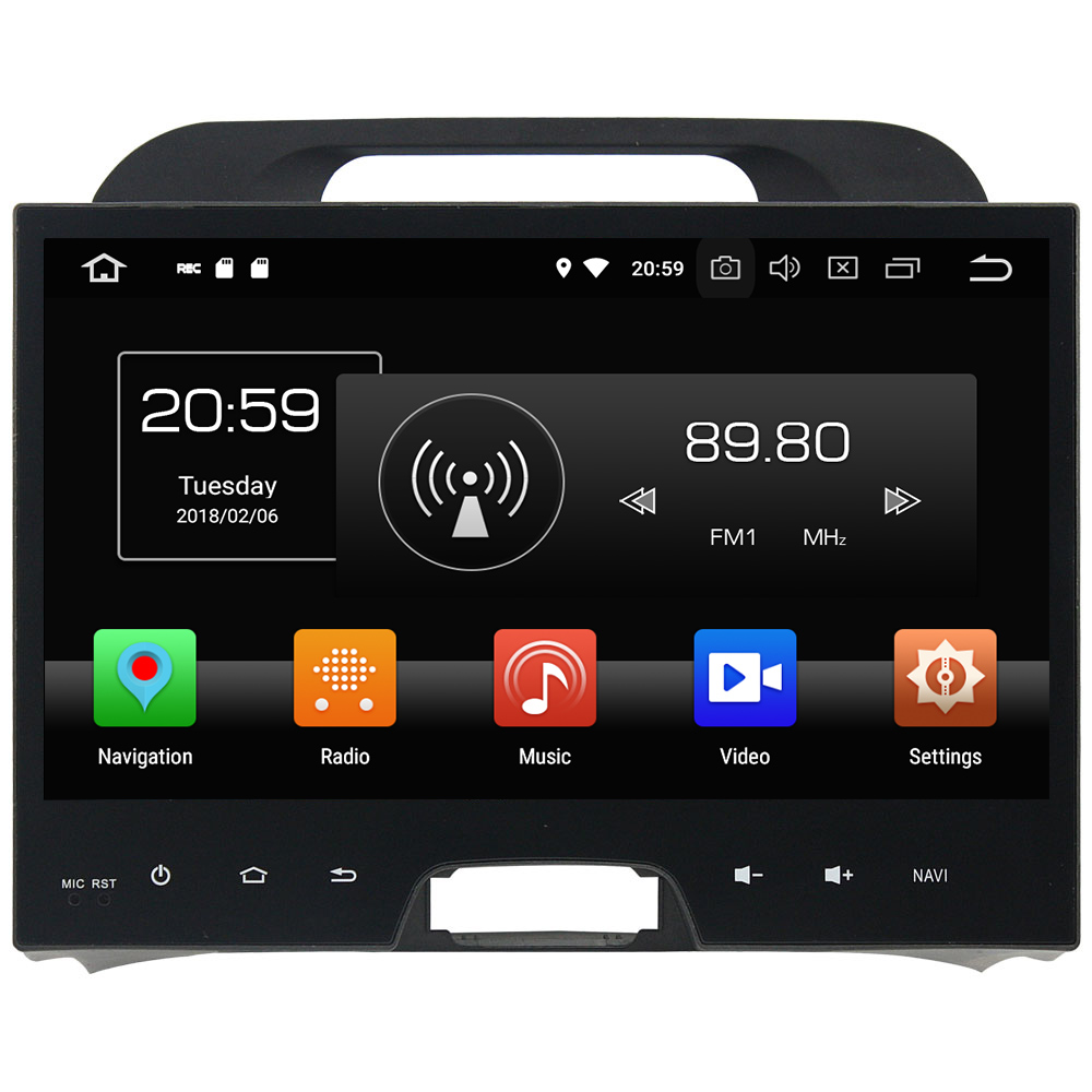 Android 8.0 Octa core 4GB RAM 32GB ROM Car DVD Radio Multimedia Stereo Player 1024*600 GPS Navigation For Kia Sportage 2010-2012 автомобильный dvd плеер hotaudio 4 4 4 kia sportage 2010 dvd gps navi dhl ems