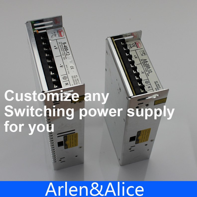 Arlen&Alice customize any Switching power supply AC to DC smps meanwell 12v 350w ul certificated nes series switching power supply 85 264v ac to 12v dc