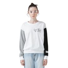 New Arrival Women Spring Sweatshirts Fashion One-Neck Letter Printed Loose Hoodies Female Short Sweatshirt