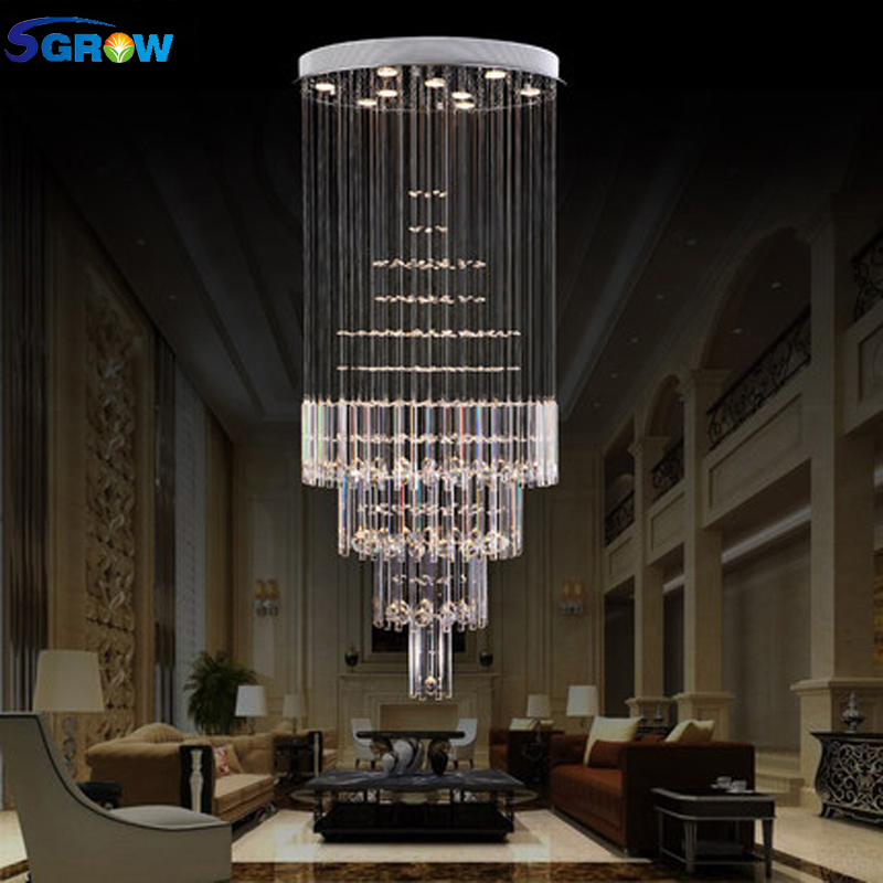 Us 5 38 30 Off Sgrow Crystal Ceiling Lamp Lighting Fixtures For Bedroom Living Room Stairs High Quality K9 Led Hanging Lampara In