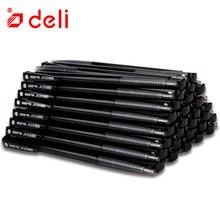 Deli 60Pcs Zwart Rood Blauw Inkt Balpennen Voor Schrijven Student Briefpapier Luxe Rollerball 0.7mm Balpen Kantoor accessoires