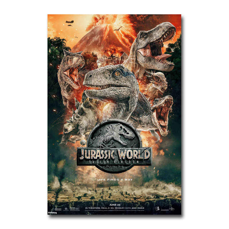 Jurassic World Fallen Kingdom Hot Movie Art Silk Canvas Poster 13x20 32x48 inch
