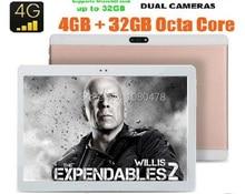 2017 10 pulgadas de la Tableta Llamada de Teléfono Octa Core 4G LTE 8.0MP 4 GB RAM 64 GB ROM 1920*1200 IPS Pantalla Android 6.0 Bluetooth GPS de la Tableta de 10