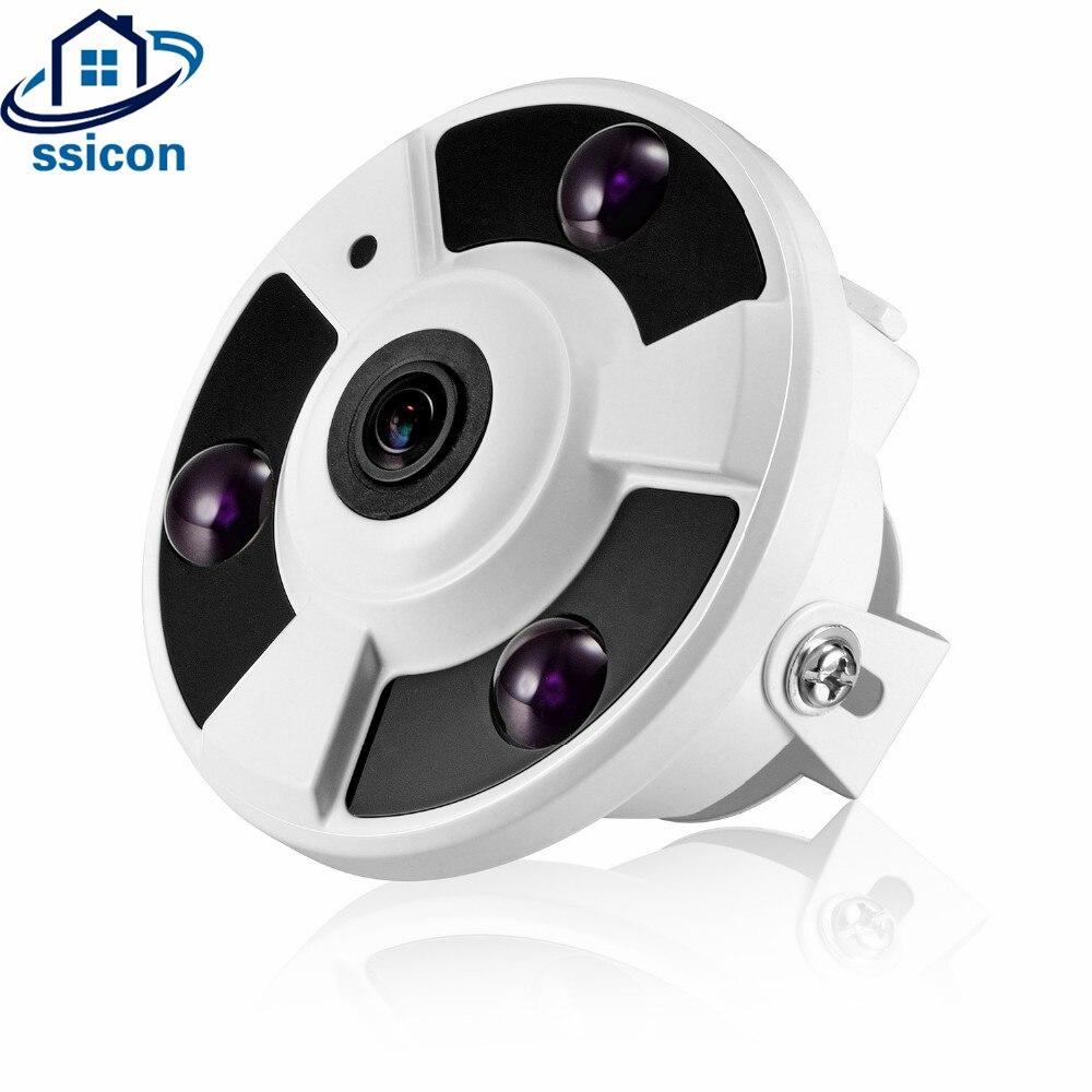 SSICON 5 Mégapixels Fisheye AHD Caméra 1.7mm Lentille 180 Degrés Vue 3 pièces Arrray Led IR20M Infrarouge Caméra Dôme de Sécurité