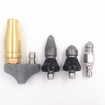 (4 nozzles per lot) High Pressure Sewer Drain Cleaning Nozzle, Sewer Jetter Heads